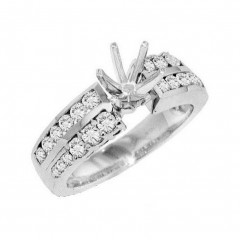 1.25ct Round Cut Diamonds Engagement Rings Semi Mounts
