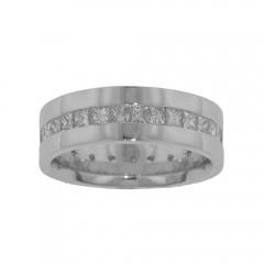 New 4.00ct Mens Princess Cut Diamond Eternity Ring Band