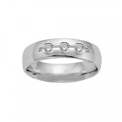 New 0.30CT Men's Round Cut Diamond Ring Wedding Band G/SI1 14KT White Gold Certf