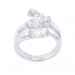 New 1.00CT Round Cut Diamond Ring Anniversary Cocktail Band 14KT WhiteGold G/SI1