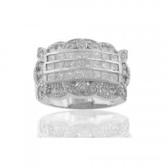 New 1.70CT Princess Cut Diamond Ring Anniversary Cocktail Band 14KT G/SI1 Certif