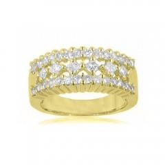 New 2.20CT Princess Cut Diamond Anniversary Ring Band 14K Yellow Gold G/SI1 Cert