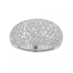 New 5.50 CT Round Anniversary Ring Band Cocktail Ring Pave Set F/VS2 14KT Gold