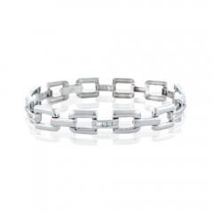 1.00CT Men's Round Brilliant Cut Diamond Bracelets G/SI1