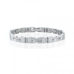 1.10ct Mens Round Brilliant Cut Diamonds Bracelets G/Si