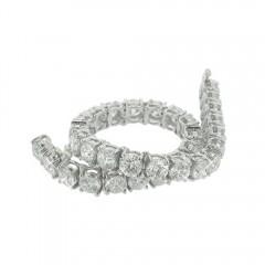 20.05ct Round Cut Diamonds Tennis Bracelets F/Vs2 Gal