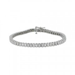 5.00ct Round Brilliant Cut Diamond Tennis Bracelets 14k