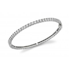 5.25 ct All Around Diamond Bangle Bracelet (Color G Clarity SI-1) in 14 kt White Gold
