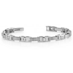 1.55 ct Ladies Round Cut Diamond Tennis Bracelet ( Color G Clarity SI-1) in 14 kt White Gold
