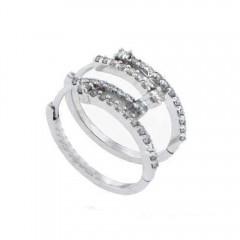 0.75ct Round Cut Diamonds Hoops Huggies Earrings G/Si1