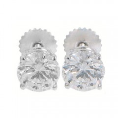 1.00ct Round Cut Diamonds Studs Earrings G/Vs2 Natural