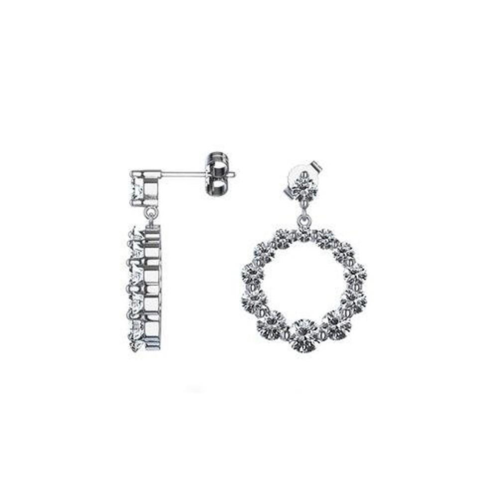 New Brand New 2.40 CT Lady's Journey Diamond Dangle Earrings 14 KT  HM09