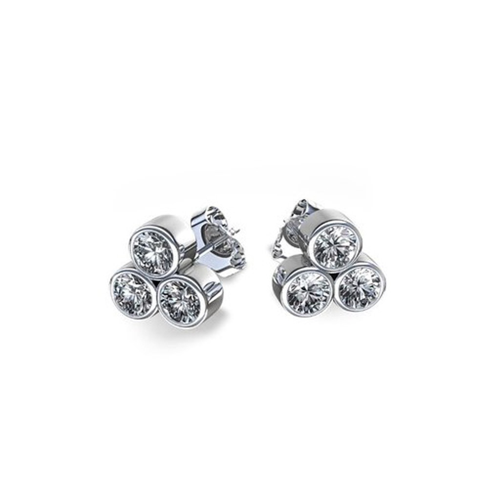 cubic sl sterling sbz silver solitaire bezel choose zirconia cr rd round earrings color set products stud