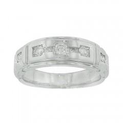 0.60CT Men's Round Cut Diamond Rings Wedding Bands 14K