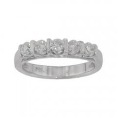 0.70ct Round Cut Diamonds Anniversary Rings Bands F/Vs2