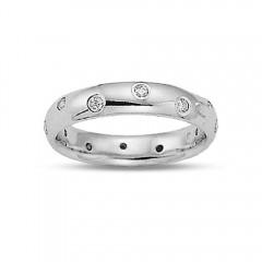 0.75ct Round Eternity Diamonds Rings Wedding Bands G/Si1