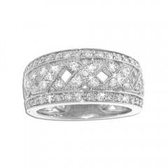 1.00ct Round Cut Diamonds Anniversary Kiss Rings Bands
