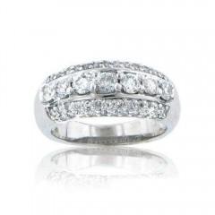 1.70CT Round Cut Diamond Anniversary Rings Bands G/SI1