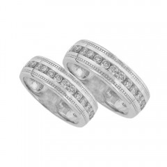 1.70ct Round Cut Diamonds Wedding Bands Sets Rings G/Si1