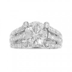 2.70ct Round Cut Diamonds Engagements Anniversary Rings