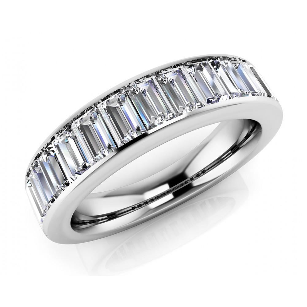 2.00 ct Ladies Baguette Cut Diamond Eternity Wedding Band Ring ...