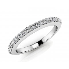 0.65 ct Ladies Round Cut Diamond Eternity Wedding Band Ring (Color G Clarity SI-1) in 14 Kt White Gold