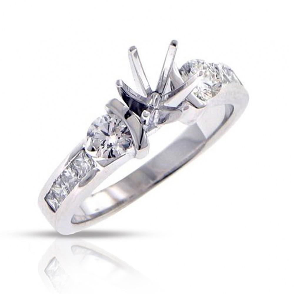 1.00ct Princess Cut Diamonds Engagements Bands Rings
