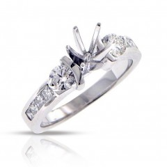 1.00ct Princess Cut Diamonds Engagements Bands Rings