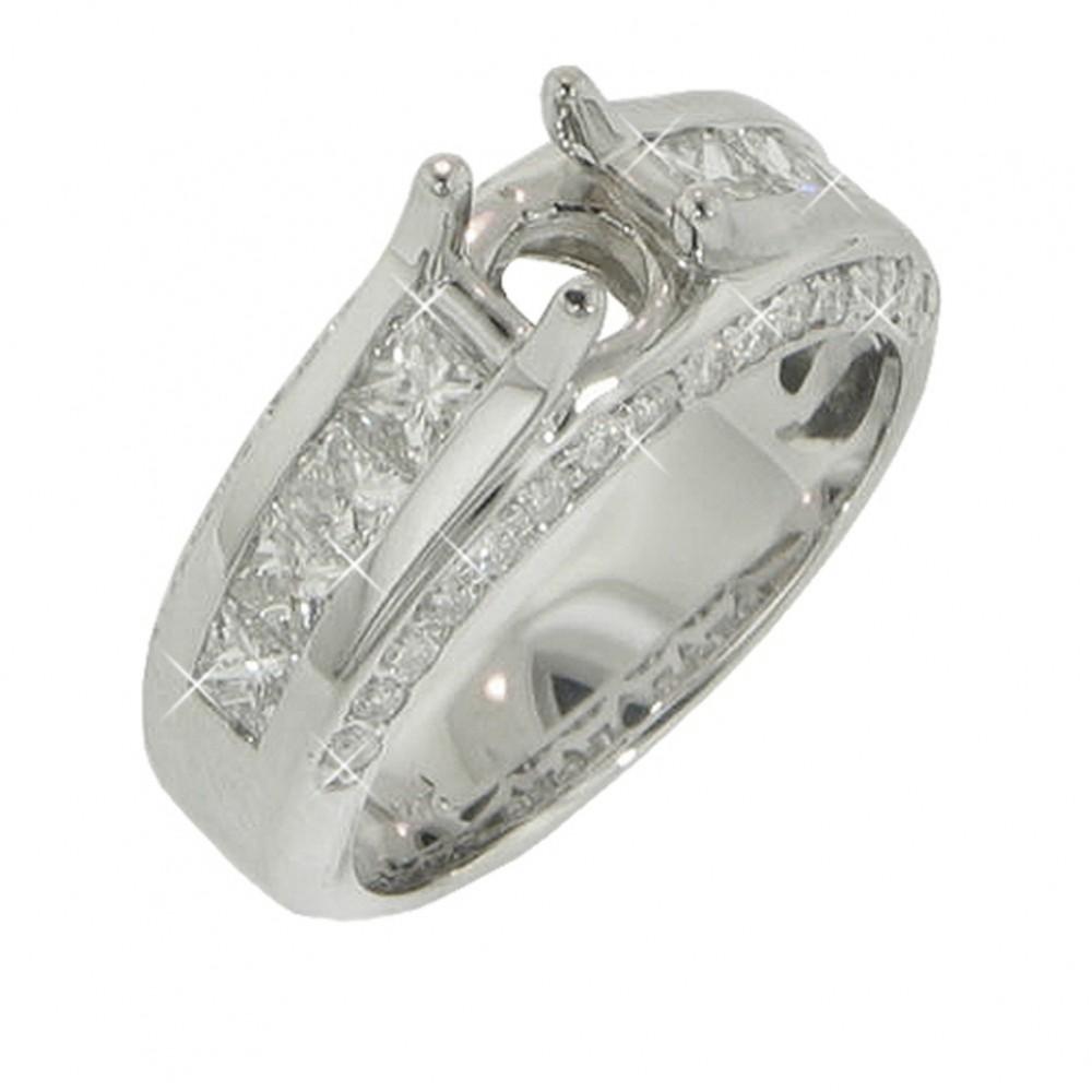 1.75ct Princess Round Diamonds Engagements Rings F/Vs2