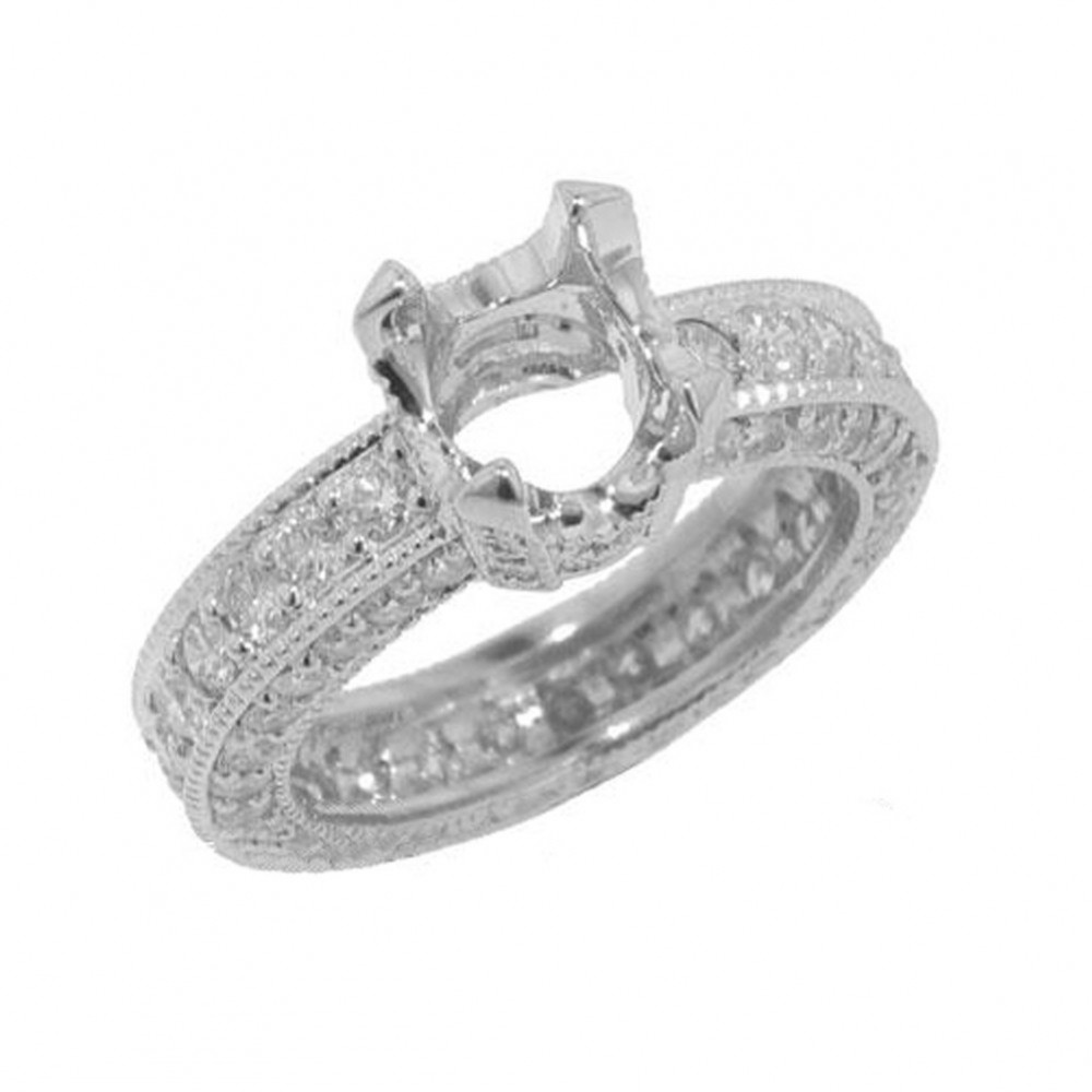 4.00ct Round Diamond Eternity Engagement Ring F/Vs2 Gal