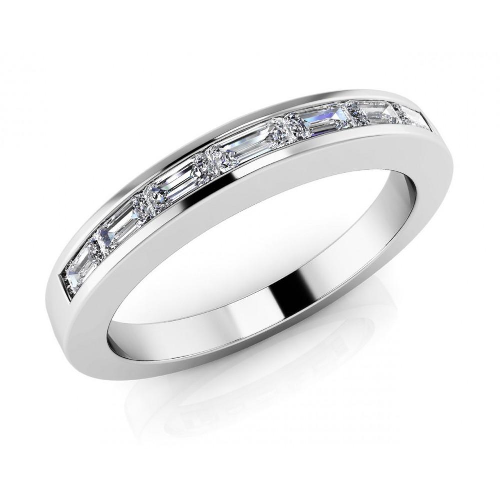 0.91 ct Ladies Baguette Cut Diamond Eternity Wedding Band Ring ...