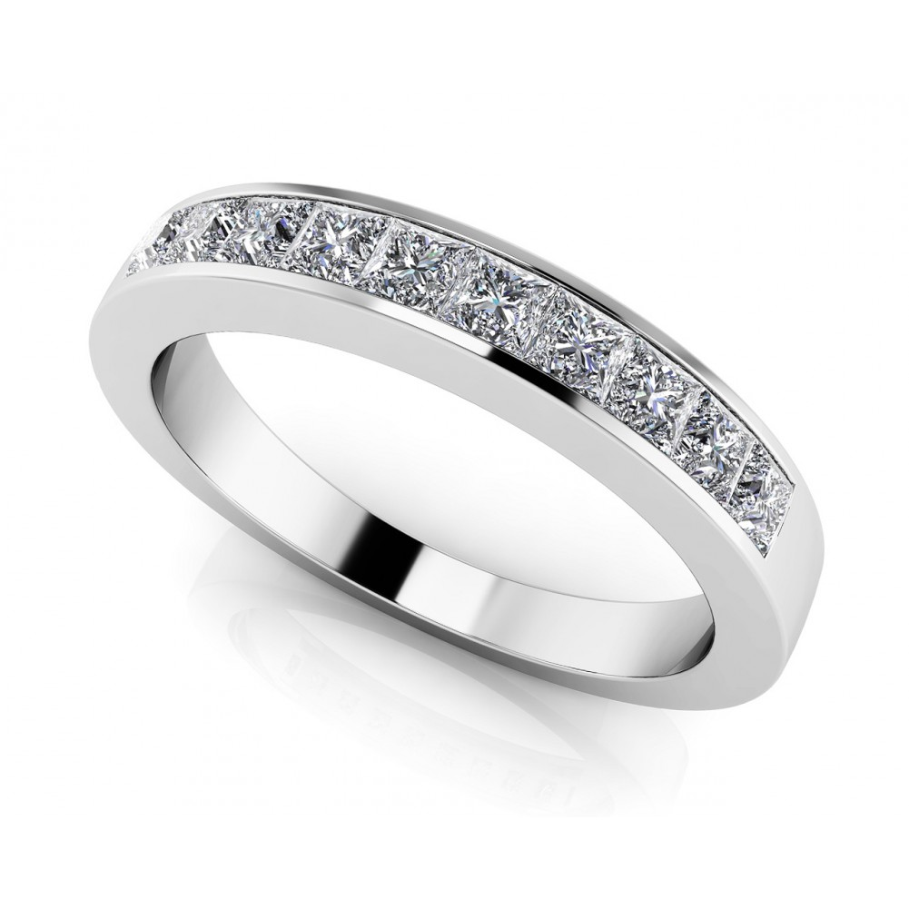 wedding princess home design daniel eternity jewellery ring rings diamond prince cut bespoke shop platinum bands half band image