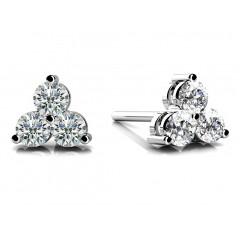 1.20 Ct Ladies Round Cut Diamond Stud Earrings in 14 karat White Gold