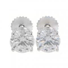 1.92 CT Round Cut Diamonds Studs Earrings Ugl Certified