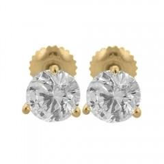 1.60CT Round Cut Diamond Studs Earrings Martini Setting