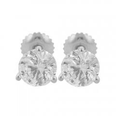 1.44CT Round Cut Diamond Studs Earrings Martini Setting