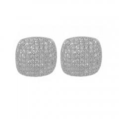 2.00ct Round Cut Micro Pave Set Diamonds Studs Earrings