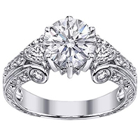 6.00CT Round Cut Diamonds Eternity Wedding Bands Rings